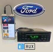 Oem 95-97 Ford Mustang Windstar Explorer Amfm Stereo Single Cd Aux Mp3 Input