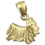 New Real Solid 14k Gold Yorkie Charm