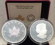 2020 Pml Pulsating Maple Leaf 10 2oz Pure Silver Proof Coin Canada