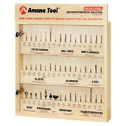 Amana Ams-cnc-52 Cnc Master Router Bit Collection Includes 52 1/4 Shank Skuand039s