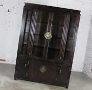 Vintage Chin Hua Collection China Display Cabinet Or Book Case By Century Furnit