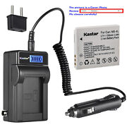 Kastar Battery Lcd Ac Charger For Canon Nb-4l Nb-4lh Digital Ixus 110 Is Camera