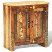 Rustic 2 Door Cabinet Reclaimed Wood Finish Console Cabinet Vintage Furniture