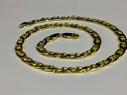 10k Solid Yellow Gold Anchor Mariner Chain/necklace 6 Mm 37 Grams 20