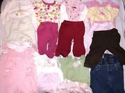 Lot Of 8 Girls Outfits Plus 2 Pair Of Jeans Size 9 Months Total Of 19 Pieces