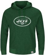 New York Jets Mens Green Game Day Classic Hoodie Sweatshirt By Majestic