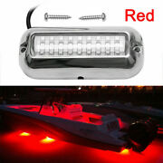 Stainless Steel 27 Led Red Underwater Pontoon Transom Lights For Boats Marine
