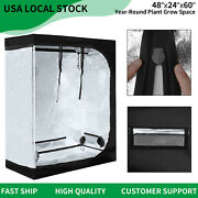 48x24x60 Grow Tent Indoor Mylar Reflective Hydroponic Plants Room Box 4and039x2and039