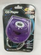 New Audiovox 45 Second Skip Protection Purple Personal Cd Player
