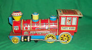 Old Tin Toy Trade Mark Friction Locomotive Railroad Train Battery Forty Niner 49