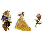 Us Disney Art Of Belle Limited Edition 3 Pin Set New In Box Le 1300 Sold Out