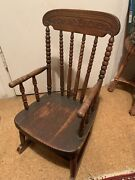 Antique Victorian Childs Rocking Chair Over 100 Years Old
