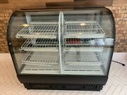 True 50 Curved Glass Refrigerated/dry Black Display Case
