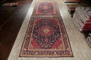 Set Of 2 Vintage Floral Oriental Area Rug Wool Handmade Animal Pictorial 8x11