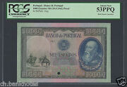 Portugal 1000 Escudos Nd 29-9-1942 P156p Proof Specimen About Uncirculated