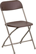 100 Pack 650 Lbs Capacity Commercial Quality Brown Plastic Folding Chairs