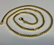 14k Solid Yellow Gold Franco Curb Box Mens Link 24 3 Mm 32 Grams Chain Necklace