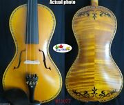 Baroque Style Song Master Inlay Shell /drawing Violin 4/4 Powerful Sound 11077