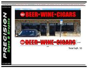 Channel Letters On Raceway Sign Logo.beer.wine.cigars Liquor Store Sign