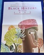 Black History Month 1992 Promotional Poster - Leo And Diane Dillon Illustration