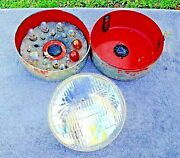 Antique Anthes B102 Round Head Lamp Light Bulb Fuse Spare Kit Tin Box 1930 - 40s
