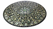 36 Marble Coffee Table Top Mother Of Pearl Mosaic Marquetry Inlaid Home Decor