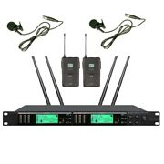 Dual Lapel Microphone System Professional Lavalier Wireless Vocl Mic For Shure