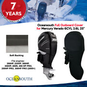 Oceansouth Outboard Full Storage Cover For Mercury 6cyl 2.6l 200hp-400hp 25 Leg
