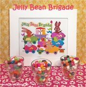 Jelly Bean Brigade Cross Stitch Chart Calicoconfectionery Easter Bunny Chick