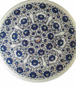 30 Marble Coffee Center Table Top Lapis Floral Inlaid Work Home Decor