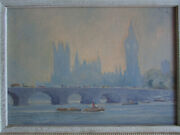 Impressionist Painting Style Of Colin Campbell Cooper London Mystery Artist