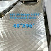 Food Truck And Restaurant Diamond Quilted Stainless Steel 24 Ga 4and039 X 8and039 4 Quilt