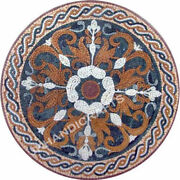36and039and039 Marble Table Top Mosaic Inlay Arts Work Living Room Decor Christmas Gifts