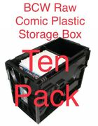 10 Pack Bcw Raw Comic Book Storage Plastic Bin Stackable Box Heavy Duty New