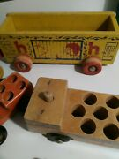 Lot Of 6 Antique Holgate Wood Toy Cars