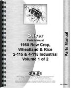 Oliver 1950 White 2-115 4-115 Tractor Parts Manual