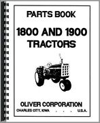 Oliver 1800 1900 Tractor Parts Manual Catalog