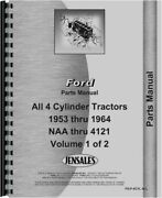 Ford 1801 501 601 701 801 2000 4000 4140 740 820 ++ Tractor Parts Manual Catalog