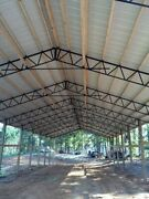 11-40and039 Steel Trusses Pole Barn For A 40x100 Pole Barn