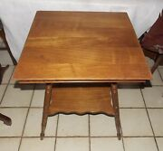 Solid Oak And Elm Lamp Table / End Table T876