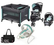 Baby Trend Stroller With Car Seat Playard Smart Bouncer Diaper Bag Combo Sets