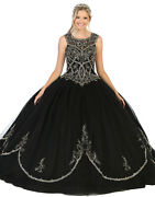 Special Occasion Formal Embroidered Sweet 16 Enchanting Quinceaandntildeera Ball Gown