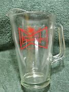 Vintage Collectible Budweiser Glass Pitcher-tavern-beer-home-man Or Woman Cave