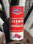 Vintage Nos Studebaker Packard Auto Cooling System Cleaner Tin Can Sign