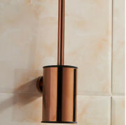 Bathroom Toilet Brush Cup Holder Stainless Steel Rose Gold Wall Mount Clean Tool