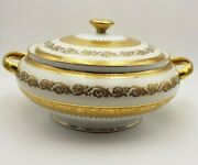 French Raynaud Imperial Limoges China W/ Gold Casserole Dish W/ Lid