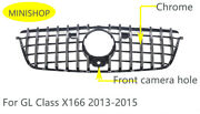 For Mercedes Benz Gl X166 Front Grille Gl500 Gl550 Gl63 Gt R 2013-2015 Chrome