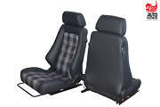 2 Recaro Specialist S Black Leather Heating + Mounting Frames For Mercedes G Mod