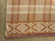 1940and039s Camp Trade Blanket Cabin Lodge Country Grandmaand039s Vintage Apx 67x70