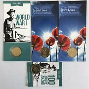 2014 2015 2016 2018 1 100 Years Of Anzac Australia And Al Counterstamp Coin Set